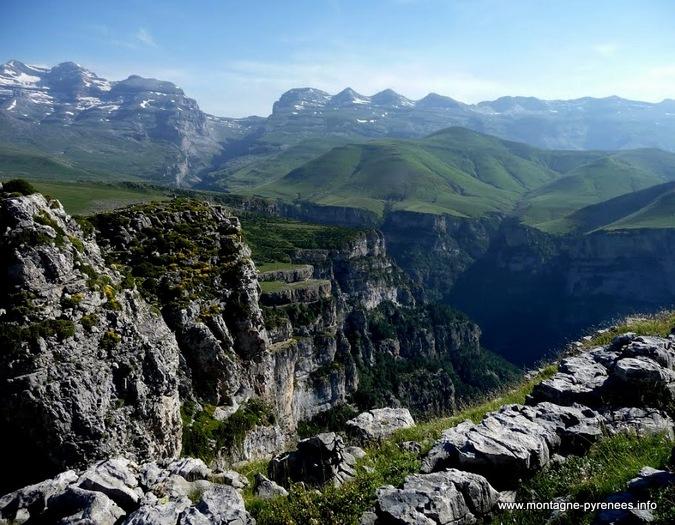 Vues sur le massif du Monte Perdido vu depuis le Mondoto