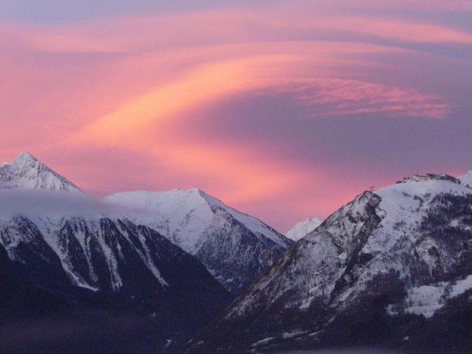 Ciel hivernal au dessus de Saint-Lary-Pyrénées