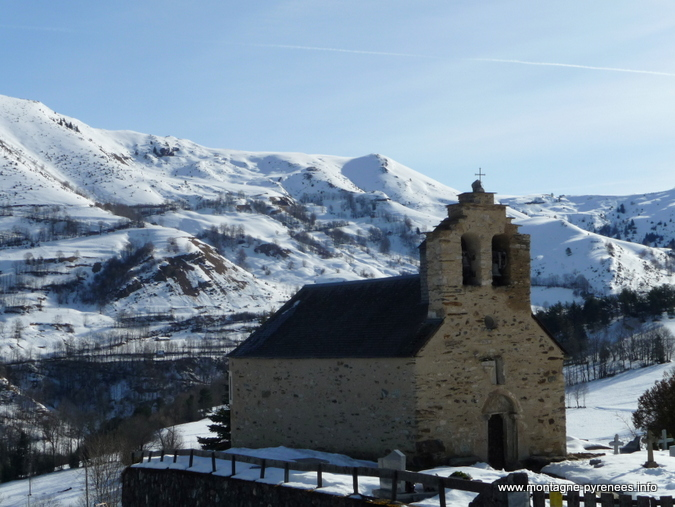église Saint-Etienne à Ens vallée d'Aure - Hautes-Pyrénées