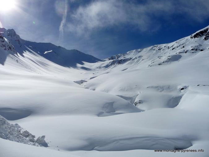 Vallon du Hourquet sous la neige - vallée d'Aure Pyrénées