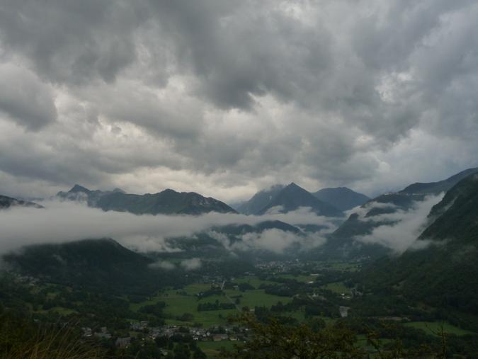Vallée d'Aure sous les nuages