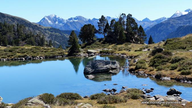Vue sur les Pyrénées depuis les laquets de Port-Bielh