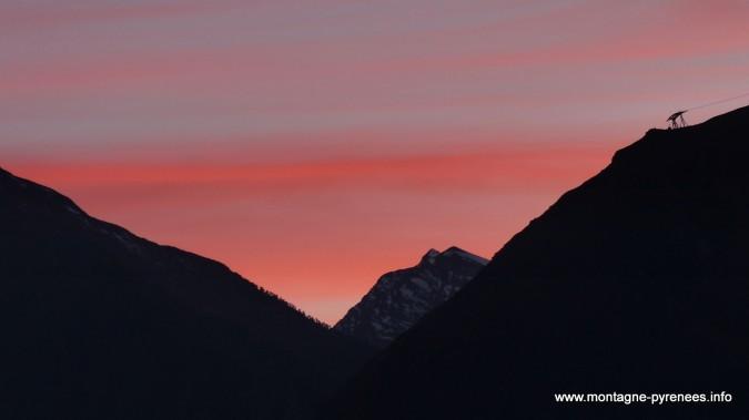 coucher de soleil en vallée d'Aure Pyrénées