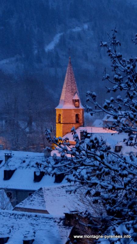 neige en vallée d'Aure Pyrénées
