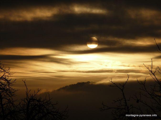 lever de soleil sur Saint-Gaudens en Comminges