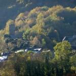 chateau et église de Tramezaigues en vallée d'Aure