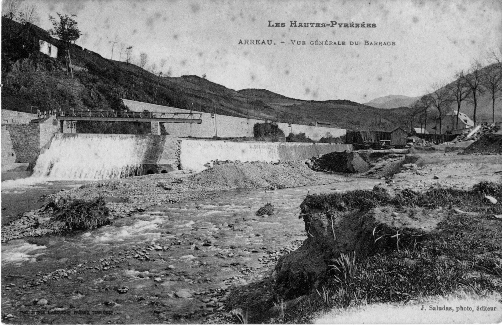 Vue G du Barrage 1910