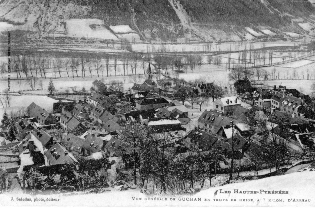 Guchan sous la neige en 1916