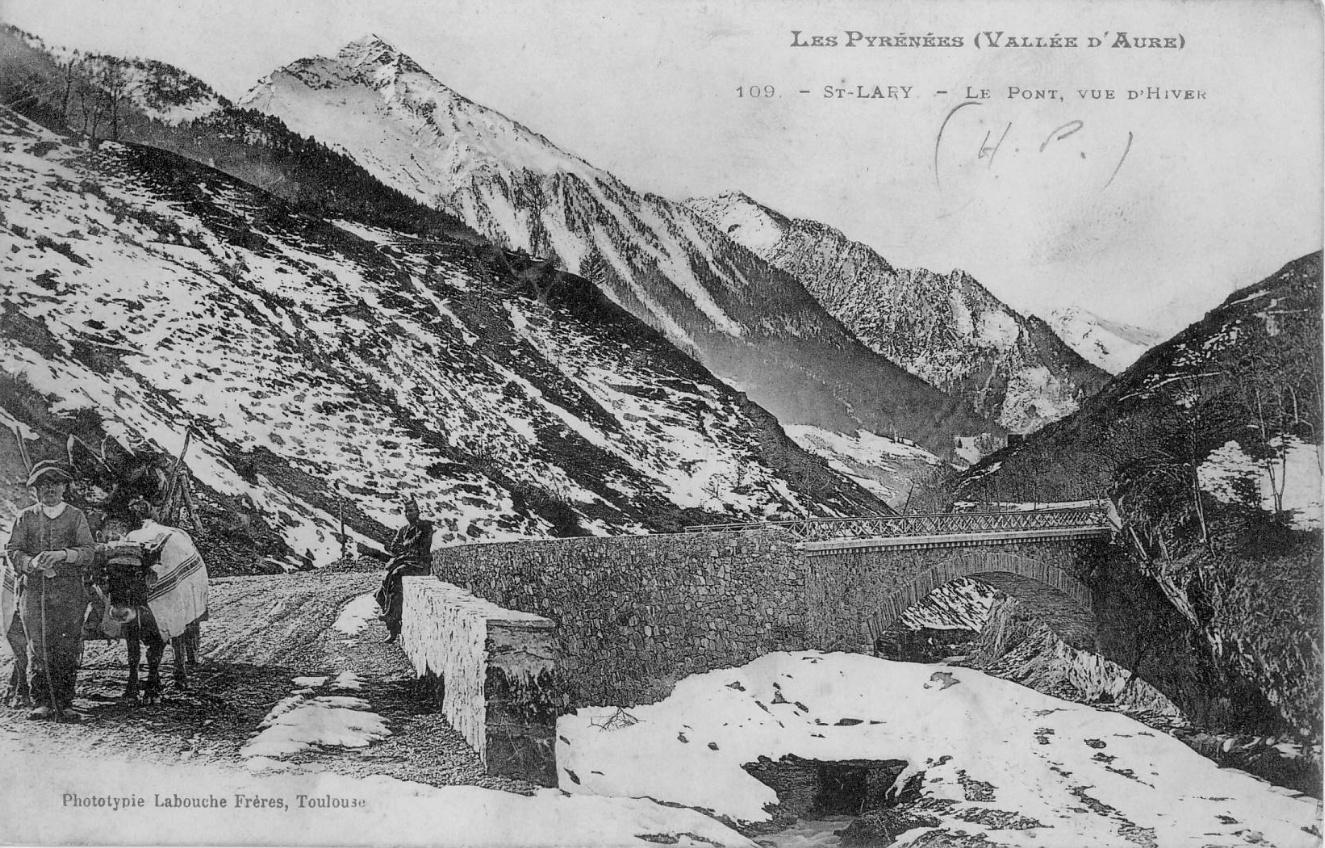 Attelage hivernal à Saint-Lary